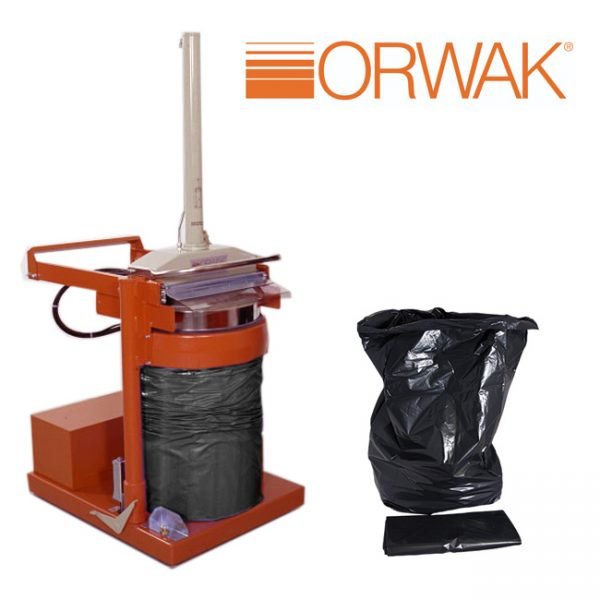Orwak 5030 Black Sacks (Packed in 100's / Min Qty 200)